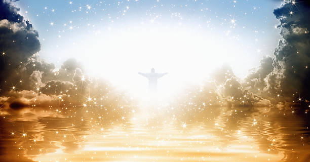jesus christ in heaven - heaven stock photos and pictures