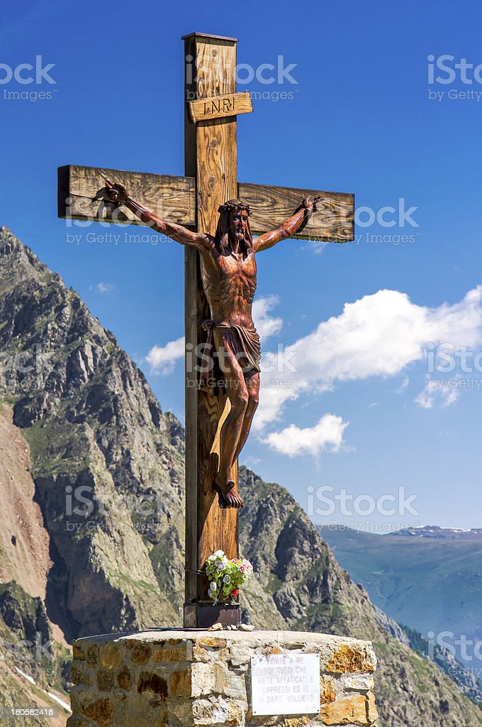 Jesus Christ monument stock photo