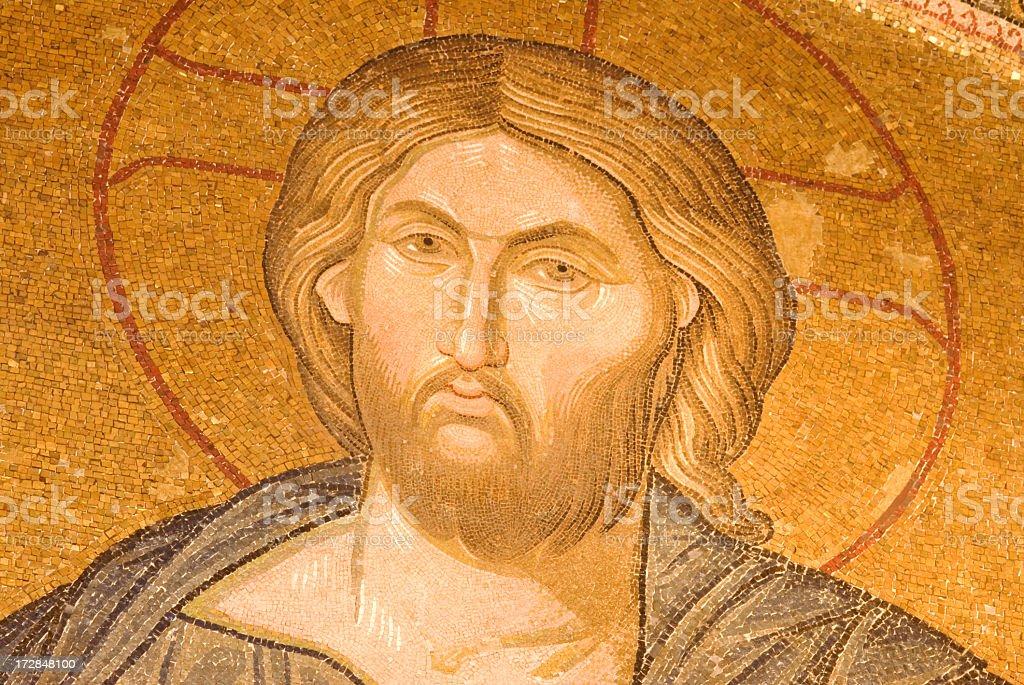 Jesus Christ  Mosaic  /  Istanbul royalty-free stock photo