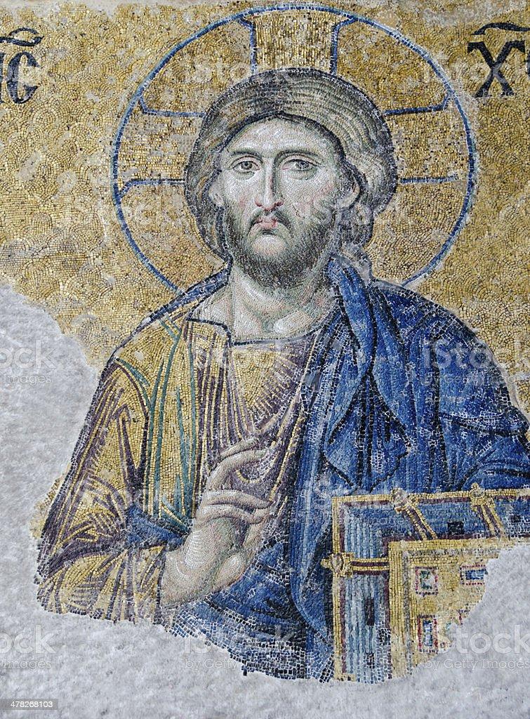 Jesus Christ Mosaic royalty-free stock photo