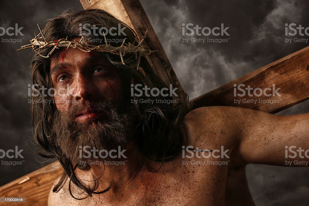 Jesus Christ on cross stock photo