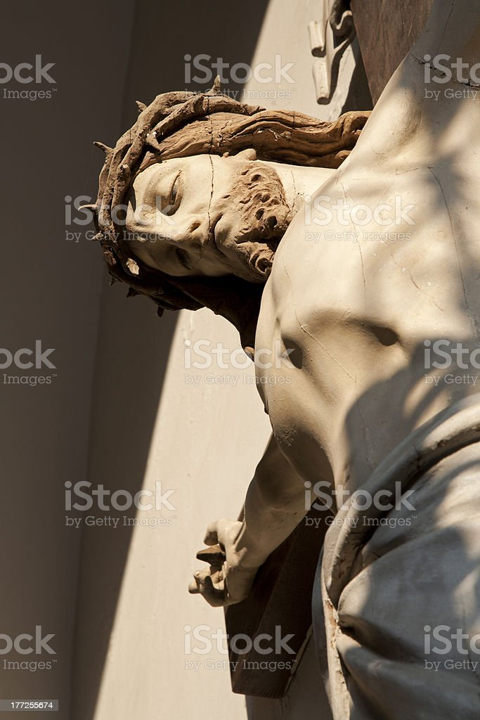 Jesus Christ on the cross from Vienna church royalty-free stock photo