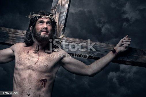 istock Jesus Christ on the cross 175770721