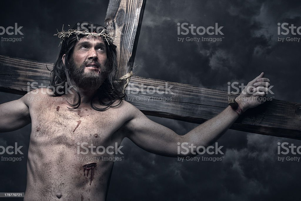 Jesus Christ on the cross stock photo