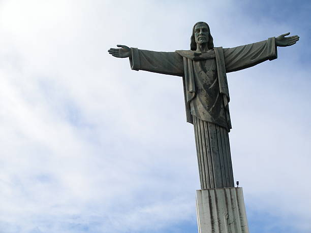 Jesus Christ Statue (3 of 4) Jesus Christ Statue in Dominican Republic. This is a 2nd version of the same statue from Brazil Rio de Janiero. Amen stock pictures, royalty-free photos & images