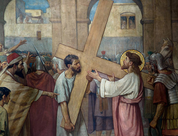 Jesus Christus am Kreuz, – Foto