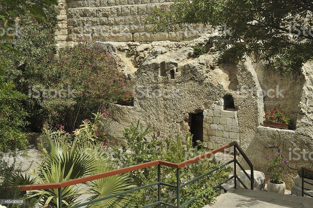 jesus christ tomb israel stock photo