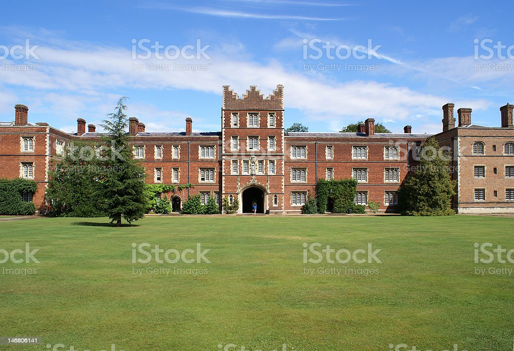Jesus College Cambridge University stock photo