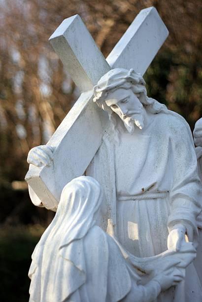 Jesus Cross Blessing stock photo