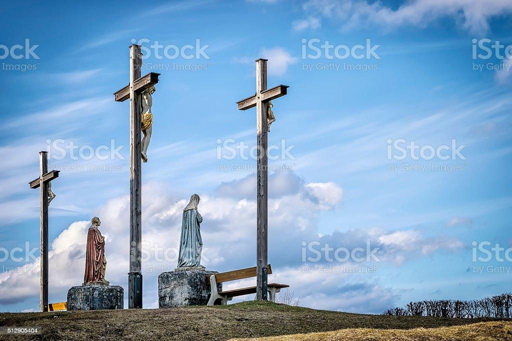Jesus cross in Bavaria stock photo