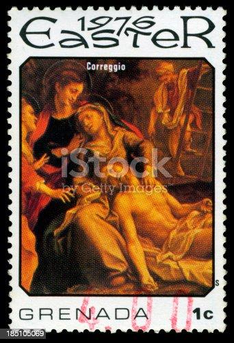 Jesus Crucified Postage Stamp.GrenadaEaster 1976