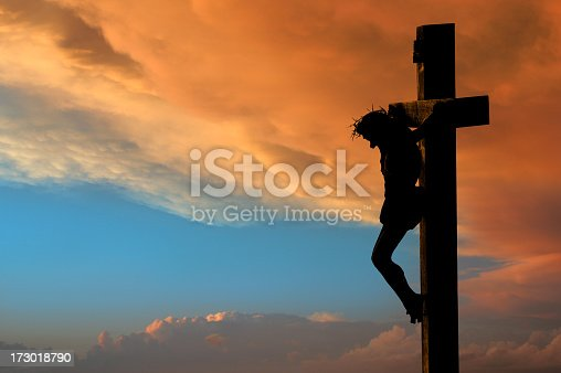 A crucifix silhouette set against a dramatic sky.PLEASE CLICK ON THE IMAGE BELOW TO SEE MY EASTER PORTFOLIO:
