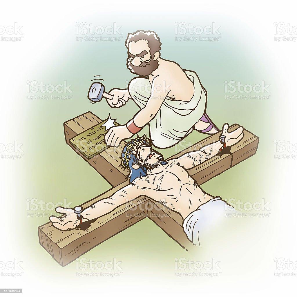 Jesus Dead stock photo