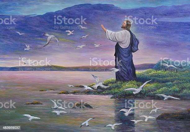 Jesus feeds birds picture id483959032?b=1&k=6&m=483959032&s=612x612&h=nnuz qkiycgnpkwu67cpixoux3wnxweh4o 18irrgv4=