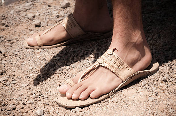 Jesus Feet stock photo
