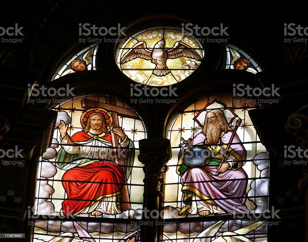 Jesus, God and the Holy Spirit stock photo