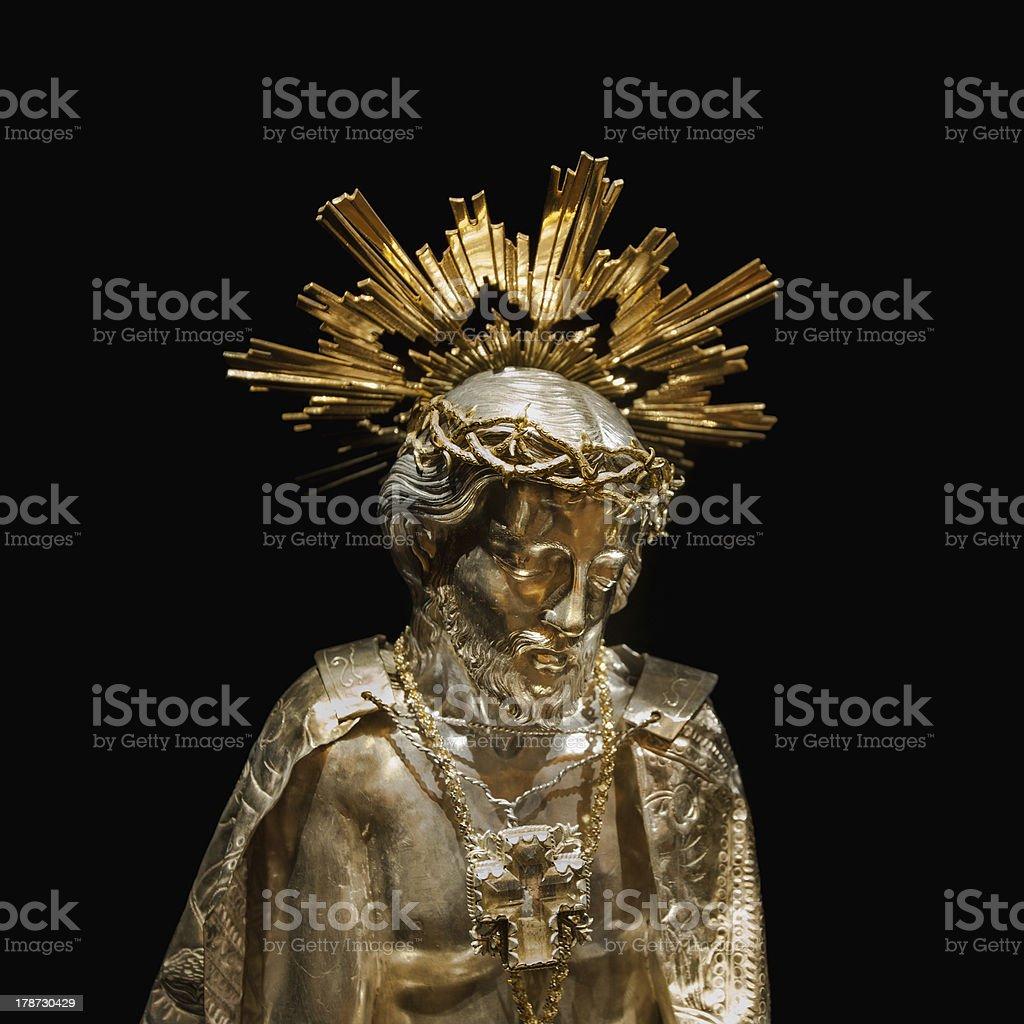 Jesus gold sculpture royalty-free stock photo