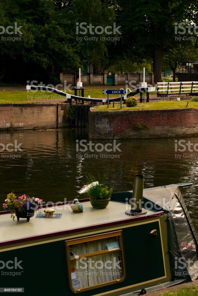 Jesus Green Lock, Cambridge, UK stock photo