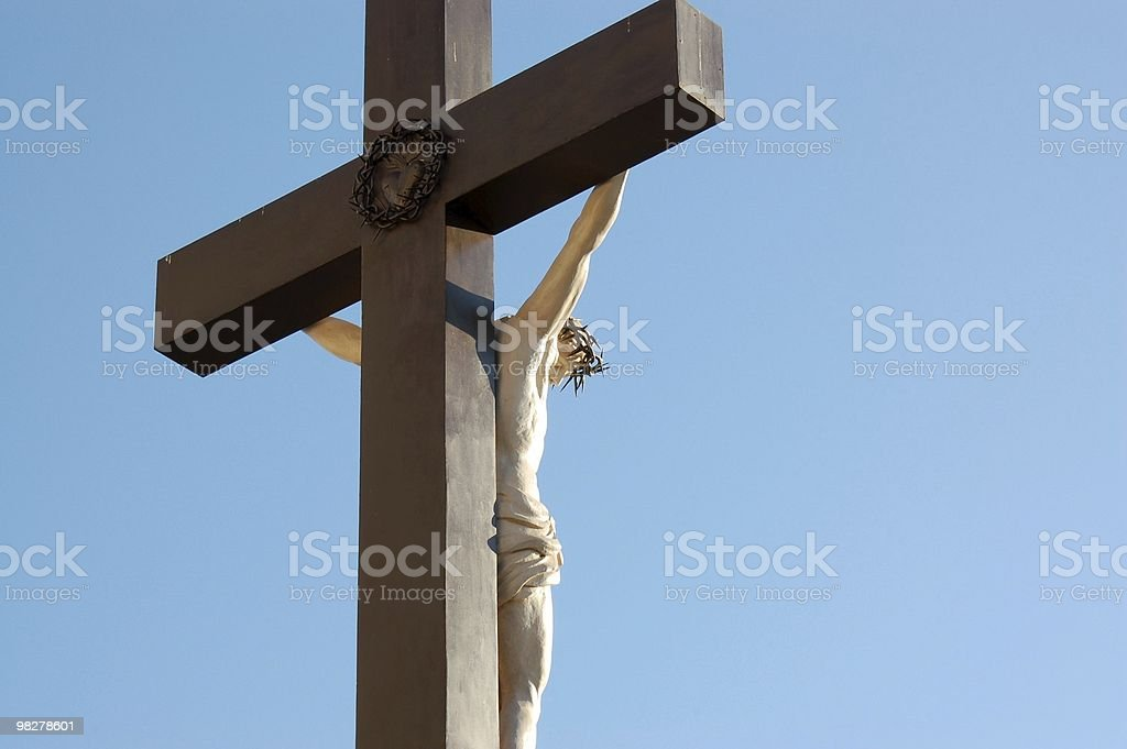 Jesus hanging on the cross royalty-free stock photo