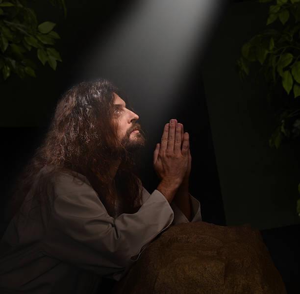 Jesus in Gesthemene stock photo