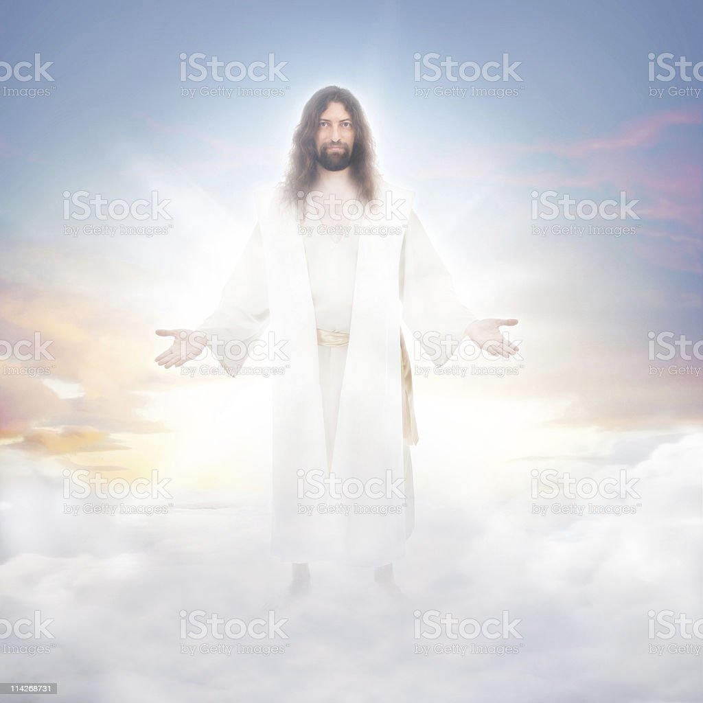 Jesus In The Clouds Stock Photo - Download Image Now - iStock