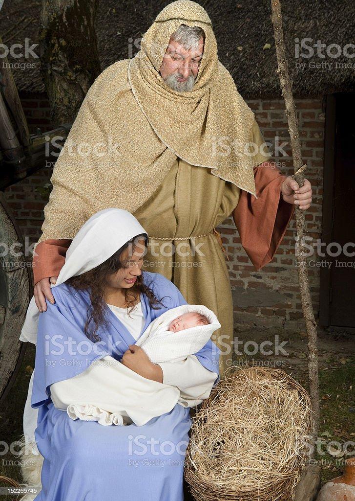 Jesus is born royalty-free stock photo
