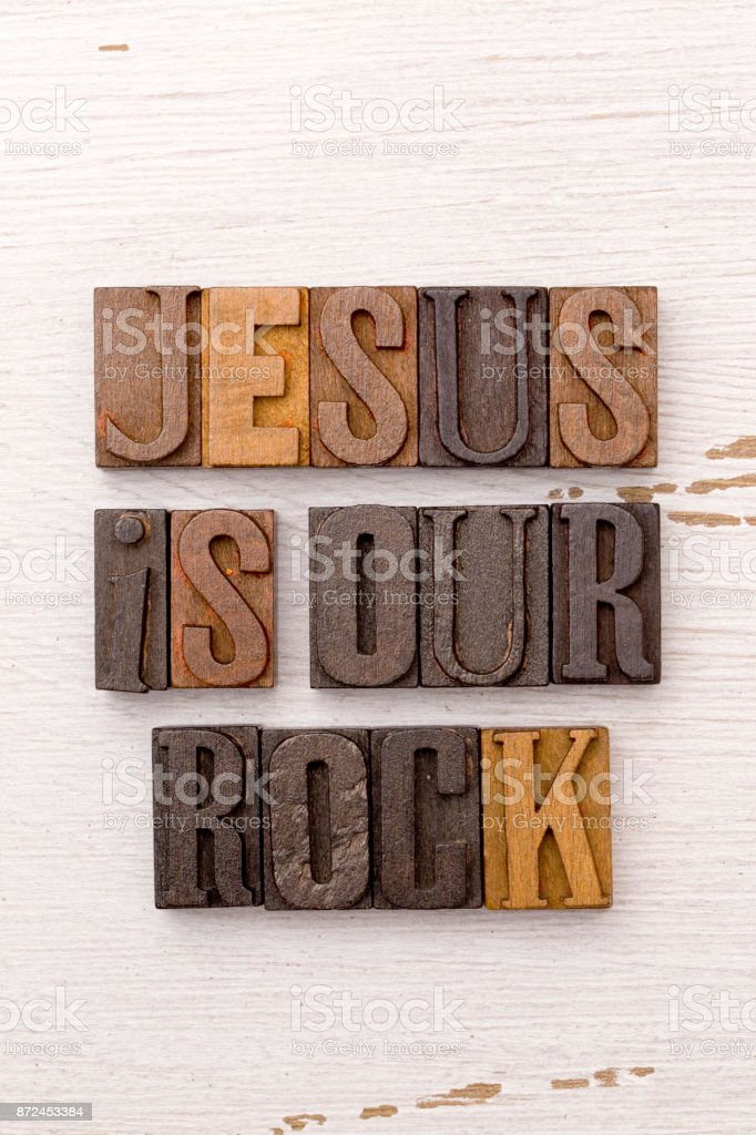 Jesus is Our Rock stock photo