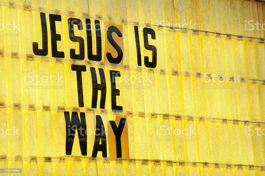 Jesus Is The Way sign royalty-free stock photo