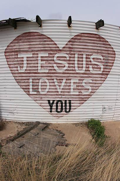 Jesus Loves You stock photo