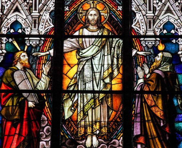 jesus, moses und isaiah - messias stock-fotos und bilder