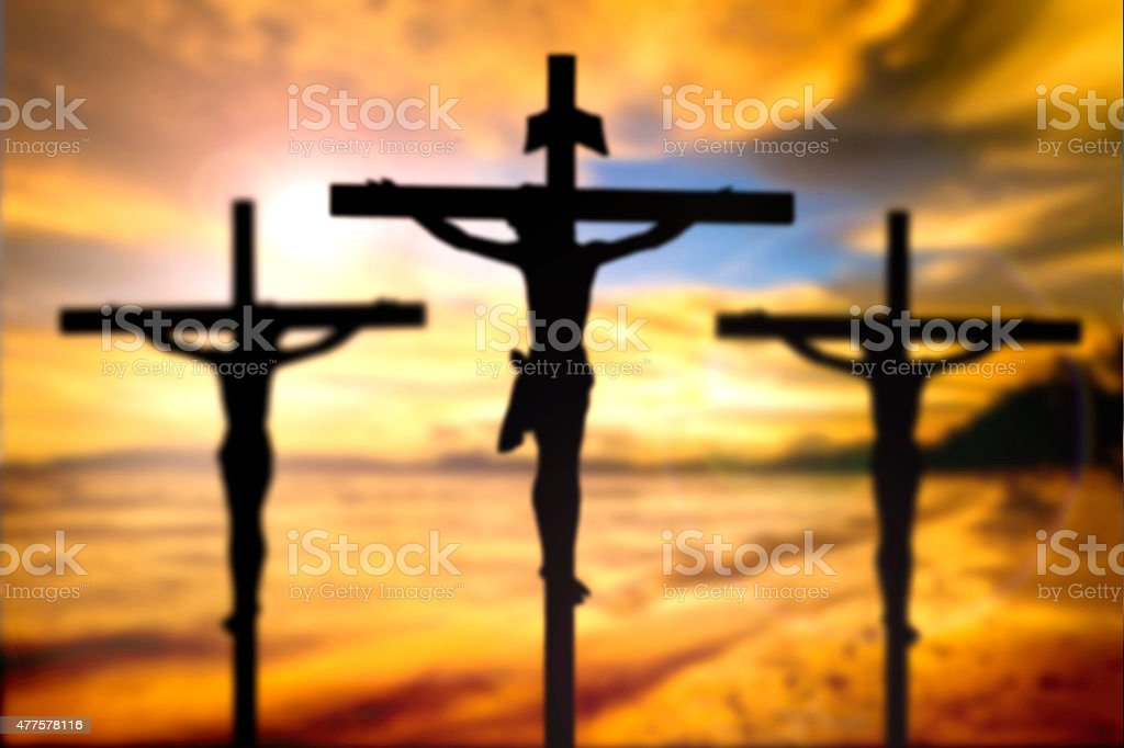 Jesus On The Cross Blur Beautiful Background Stock Photo More