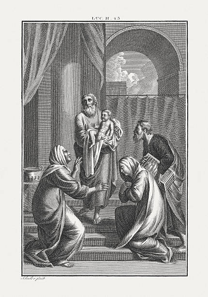 Jesus' Presentation at the Temple (Luke 2), published c. 1850 – Foto