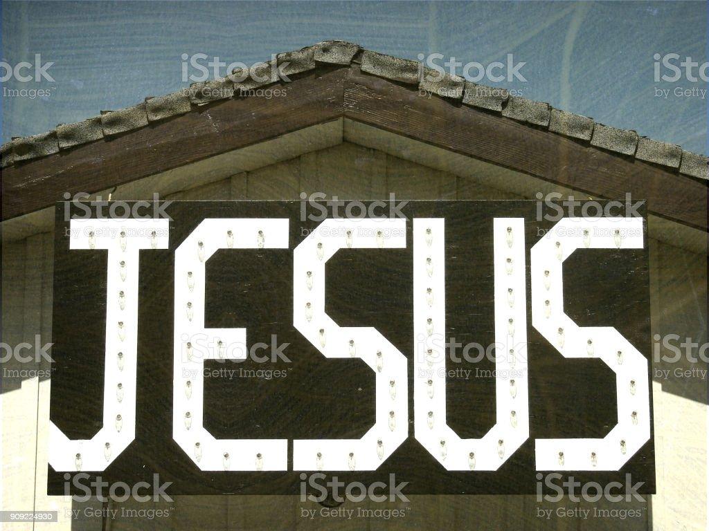 Jesus sign stock photo