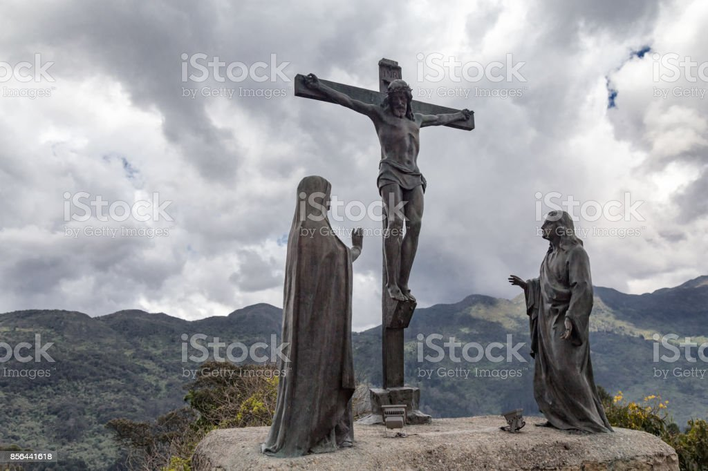 Jesus Statue on Monserrate stock photo