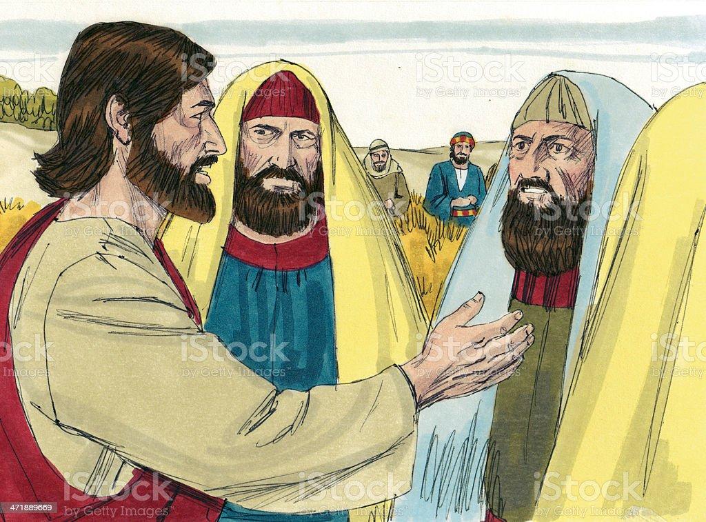Jesus Talks with Leaders stock photo