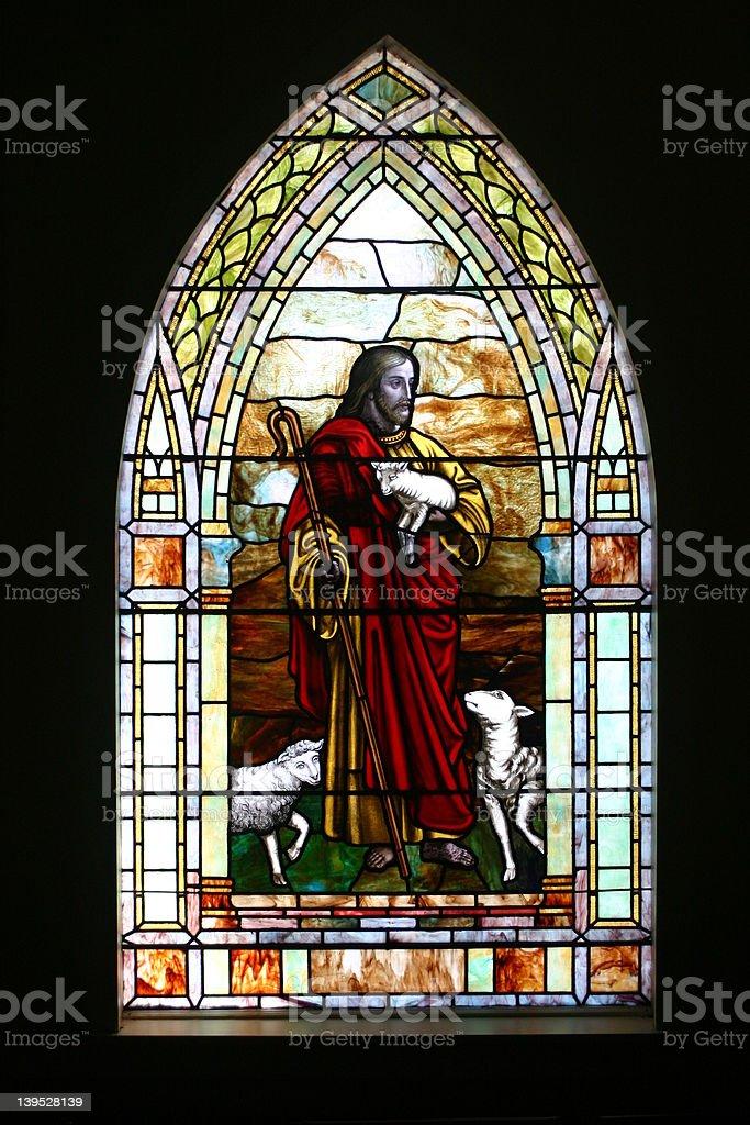 Jesus, The Good Shepherd royalty-free stock photo