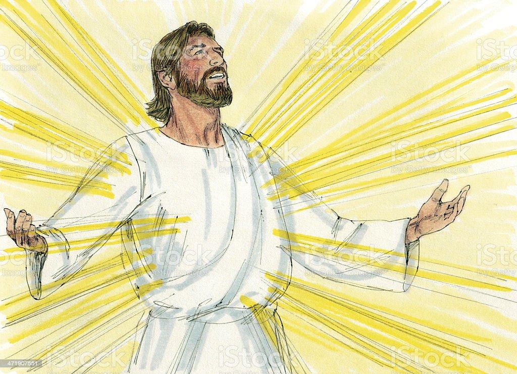 Jesus Transfigured royalty-free stock photo