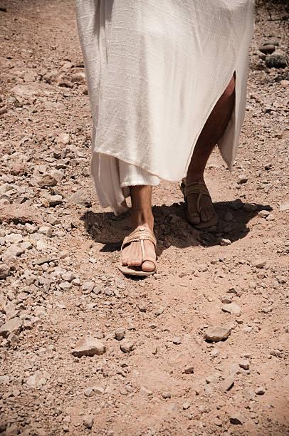 Jesus Walking stock photo