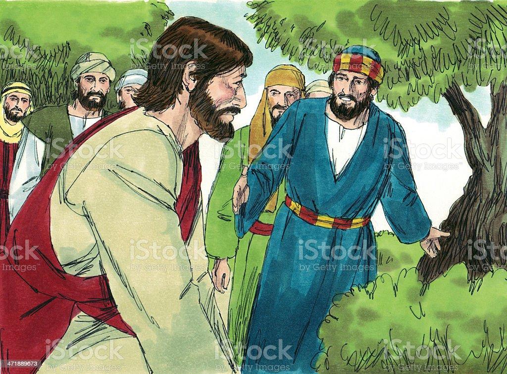 Jesus with Disciples stock photo