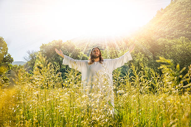 Jesus With Divine Light stock photo