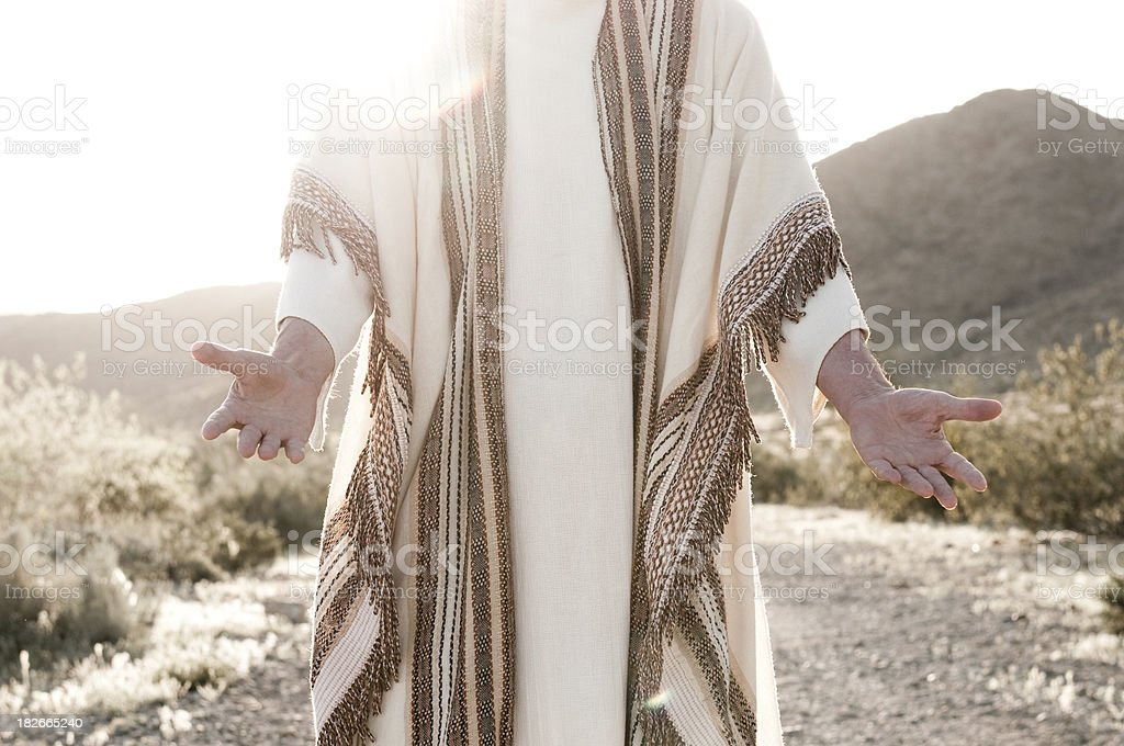 Jesus with Open Arms royalty-free stock photo