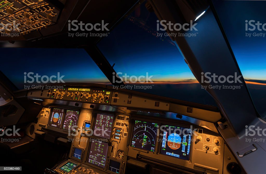 Jet Aircraft Cockpit stock photo
