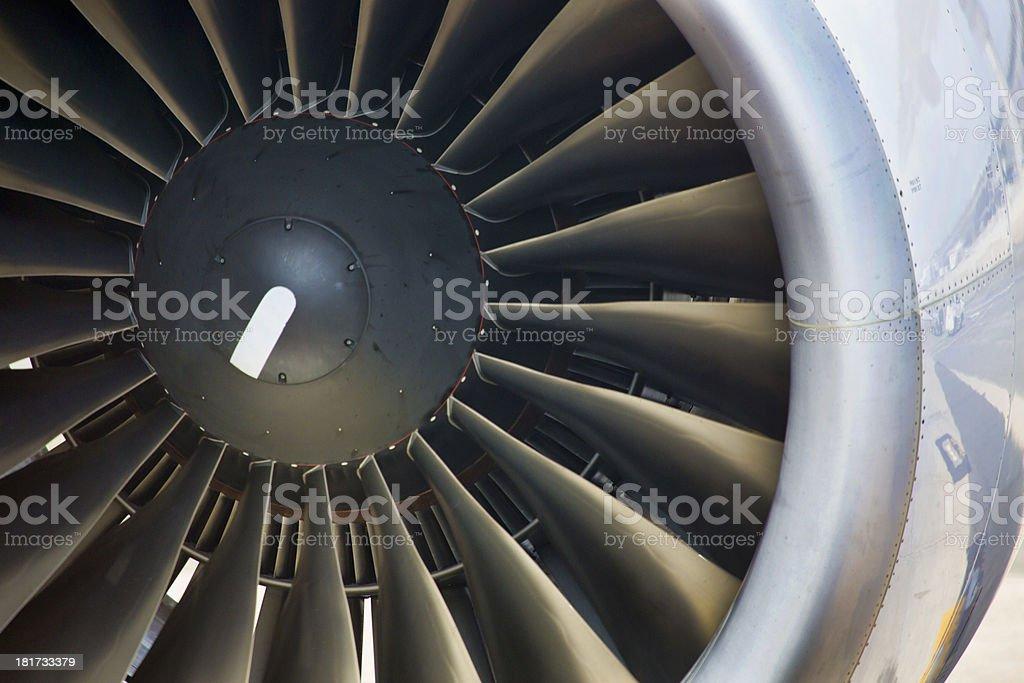 Jet Aircraft Engine royalty-free stock photo