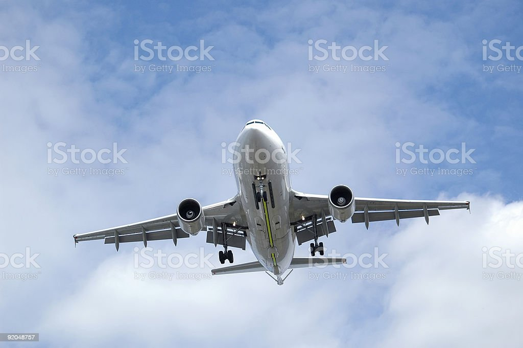 jet aircraft landing royalty-free stock photo