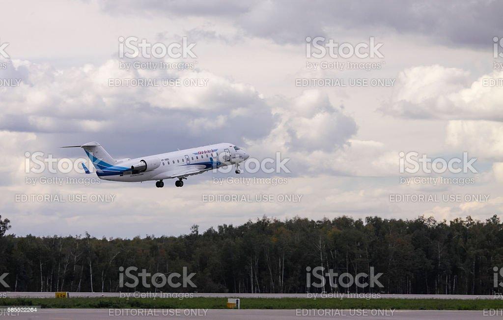 Jet aircraft take off stock photo