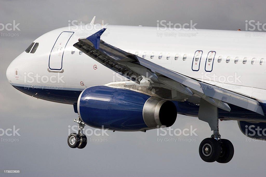 Düsenverkehrsflugzeug Landing – Foto