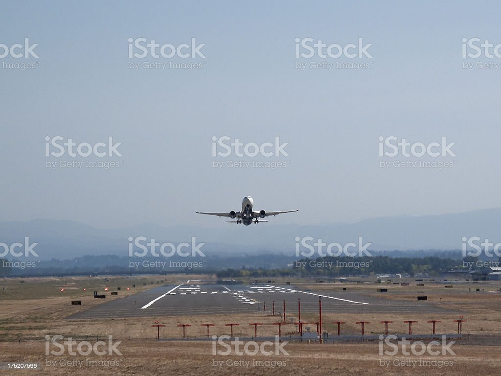 Jet Airliner Take Off royalty-free stock photo