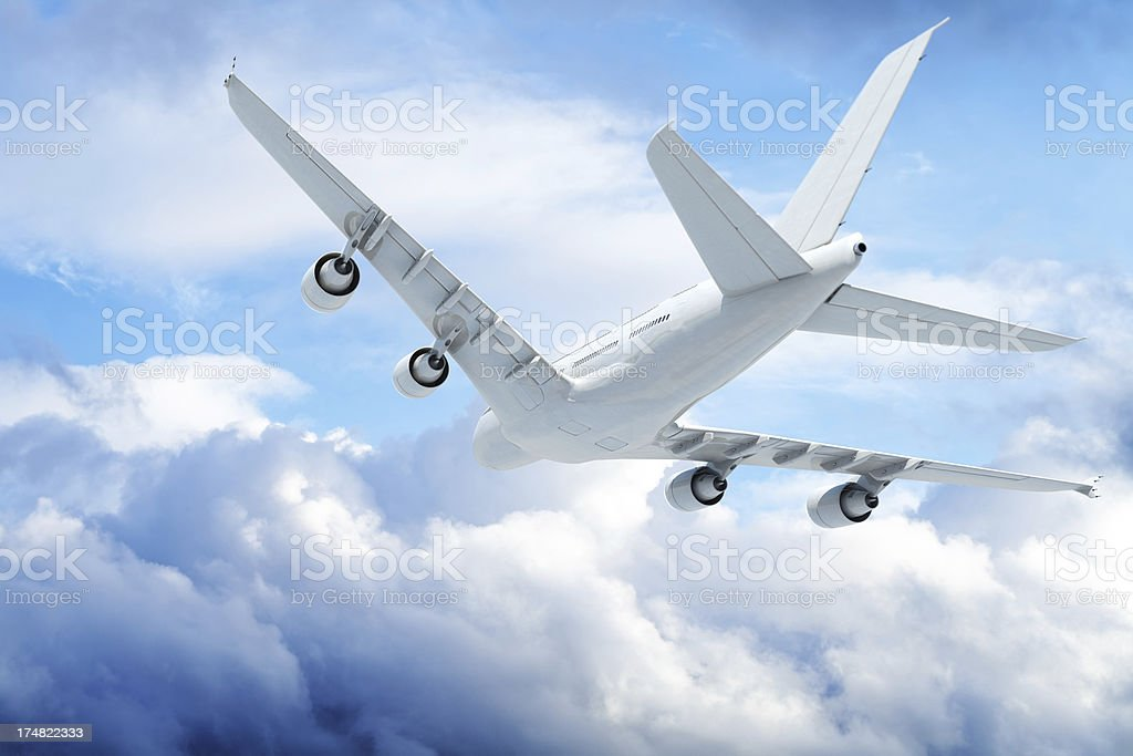 Jet Airplane in flight royalty-free stock photo