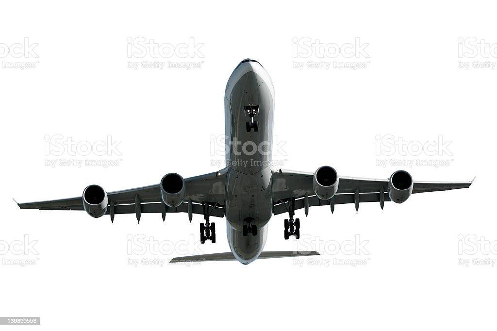 jet Avion atterrissant sur fond blanc - Photo