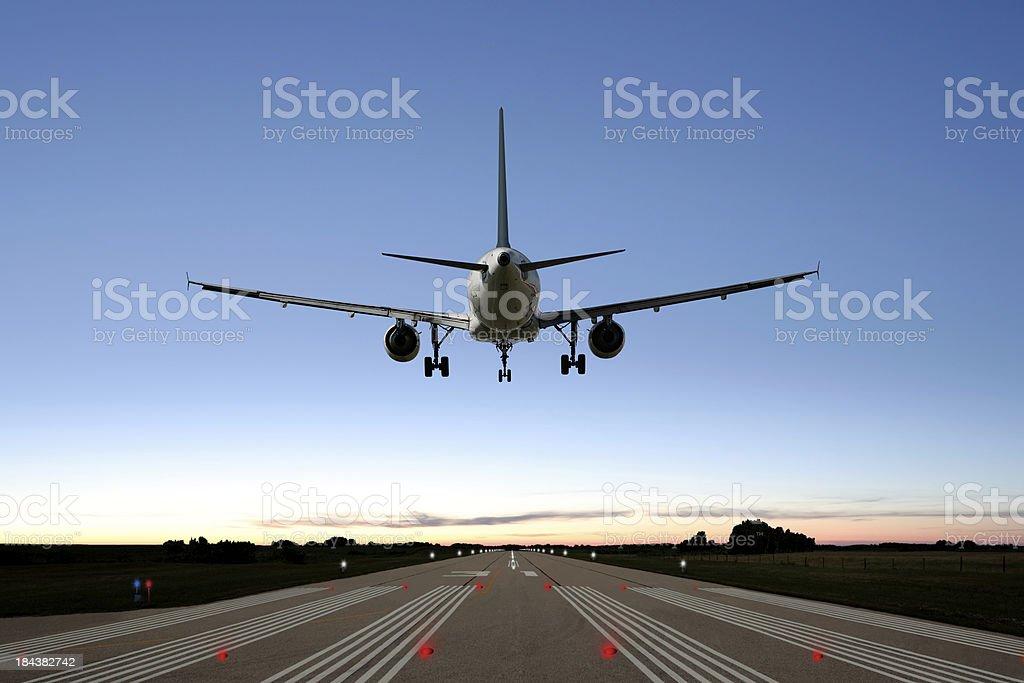 XXL-jet Passagierflugzeug Landung – Foto